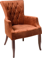 Кресло мягкое ФорестДекоГрупп Хорт (Vincent-09, оранжевый) -