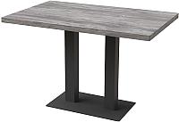 Обеденный стол Millwood Лофт Берлин L 130x80x75 (сосна пасадена/металл черный) -