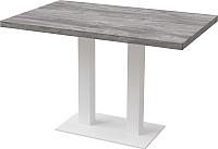 Обеденный стол Millwood Лофт Берлин Л 120x70x75 (сосна пасадена/металл белый) -