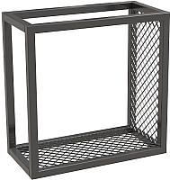 Полка Millwood Loft 3 правая 40x20x40 (металл черный) -