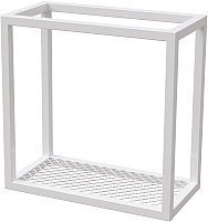 Полка Millwood Loft 4 40x20x40 (металл белый) -