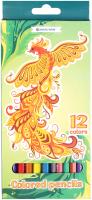Набор цветных карандашей Darvish Жар-птица / DV-119-12 (12шт) -