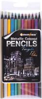 Набор цветных карандашей Darvish Металлизированные / DV-12317 (12шт) -