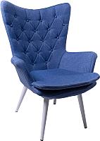 Кресло мягкое ФорестДекоГрупп Афакан (Patara-03, вязаное/голубой) -