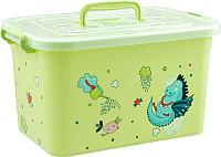 Ящик для хранения Полимербыт Радуга (15л, салатовый) -