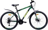 Велосипед AIST Quest Disc 26 2021 (16, черный/зеленый) -