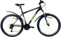 Велосипед AIST Quest 26 2021 (20, черный/зеленый) -