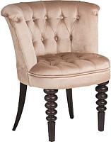 Кресло мягкое Alesan Арландо (венге лак/велюр бежевый) -