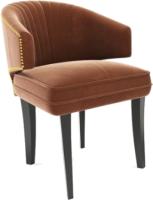 Кресло мягкое Alesan Елена (эмаль черная/велюр коричневый) -