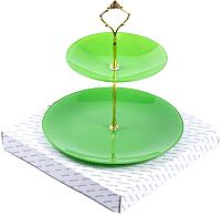 Ваза-этажерка Белбогемия Э10-2118г/зелен1/10 / 87390 -