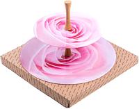 Ваза-этажерка Белбогемия Розовая роза Э10-1932Розроза1/14 / 87401 -