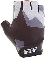Перчатки велосипедные STG Х87904 (М, серый/черный) -