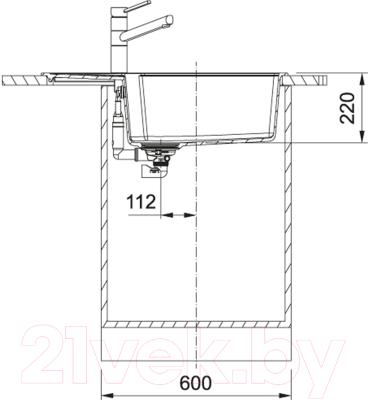 Мойка кухонная Franke UBG 611-78L (114.0595.301)