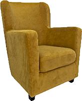 Кресло мягкое Lama мебель Фламинго (Ultra Mustard) -