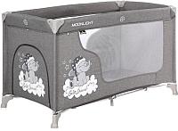 Кровать-манеж Lorelli Moonlight 1 Grey Luxe (10080392068) -