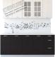 Готовая кухня Артём-Мебель Оля СН-114 со стеклом МДФ 2.6м (дуб полярный/дуб шоколад) -