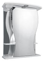 Шкаф с зеркалом для ванной Misty Карина 60 L / Э-Крн02060-01СвЛ -