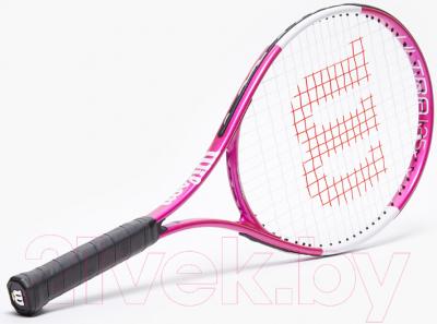 Теннисная ракетка Wilson Ultra Pink25 GR00 / WR027810U (розовый/белый/черный)