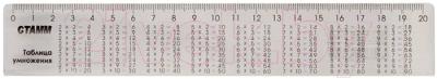 Линейка, 20 шт. Стамм Таблица умножения / ЛС02