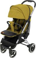 Детская прогулочная коляска Yoyaplus Pro Хромированная рама (Yellow) -
