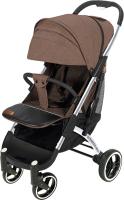 Детская прогулочная коляска Yoyaplus Pro Хромированная рама (Brown) -