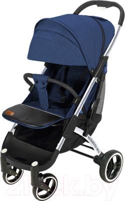 Детская прогулочная коляска Yoyaplus Pro Хромированная рама (Blue)
