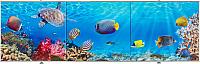 Экран для ванны Comfort Alumin Морское дно 3D 150x50 -