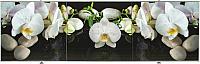 Экран для ванны Comfort Alumin Орхидея на черном 3D 150x50 -