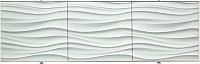 Экран для ванны Comfort Alumin Волна белая 3D 150x50 -