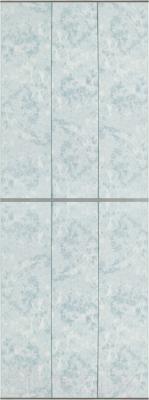 Экран-дверка Comfort Alumin Мрамор голубой 73x200