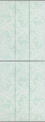 Экран-дверка Comfort Alumin Мрамор зеленый 73x200
