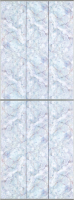Экран-дверка Comfort Alumin Плитка голубая 83x200 -