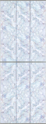 Экран-дверка Comfort Alumin Плитка голубая 83x200