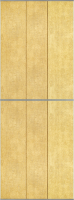 Экран-дверка Comfort Alumin Шагрень 83x200 -