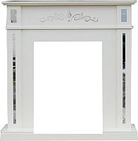 Портал для камина Смолком Lotos STD (бьянко белый) -