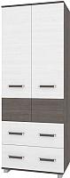 Шкаф Modern Виора В23 (анкор темный/анкор светлый) -