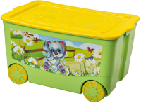 Ящик для хранения Эльфпласт KidsBox EP449 (салатовый) -