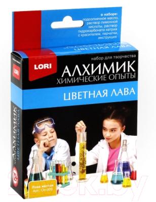 Набор для опытов Lori Химические опыты. Лава желтая / Оп-005