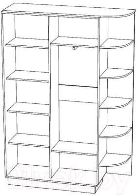 Шкаф Eligard Лагуна / ШЛМ-02.П.1 (дуб натуральный)
