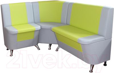 Уголок кухонный мягкий Компас-мебель КС-034 (салатовый/серый)
