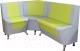 Уголок кухонный мягкий Компас-мебель КС-034 (салатовый/серый) -