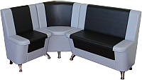 Уголок кухонный мягкий Компас-мебель КС-034 (черный/серый) -
