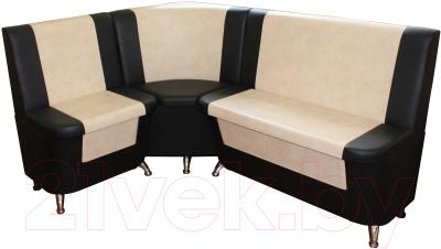 Уголок кухонный мягкий Компас-мебель КС-034 (молочный/черный)