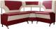 Уголок кухонный мягкий Компас-мебель КС-018 правый (красный/молочный) -