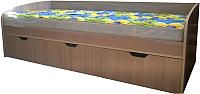 Кровать-тахта Компас-мебель КС-013-04Д1 (ясень шимо светлый) -