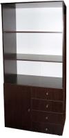 Стеллаж Компас-мебель КС-005-6Д1 (венге темный) -