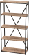 Стеллаж Millwood Neo Loft СН-1/L (дуб табачный Craft/металл черный) -