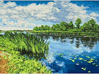 Картина по номерам БЕЛОСНЕЖКА У реки / 281-AS -
