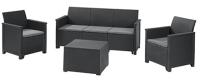 Комплект садовой мебели Keter Emma Store 3 Seater / 246145 (графит) -