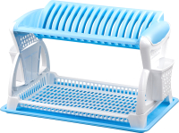 Сушилка для посуды Эльфпласт EP065 (белый/голубой) -